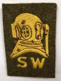 British Army Shallow Water Diver?s cloth qualification badge.