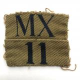 MX / 11 (Middlesex) WW2 Home Guard printed designation